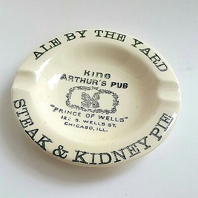 Vintage Ashtray from King Arthurs Pub, Chicago, IL Bar.Salem China  Collectible.