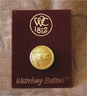 Commemorative Titanic White Star Line Button Lapel Pin - by Waterbury