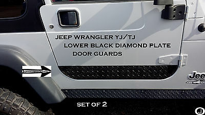 Jeep Wrangler YJ or TJ  Rubber Coated Aluminum Diamond Plate Lower Door Guards