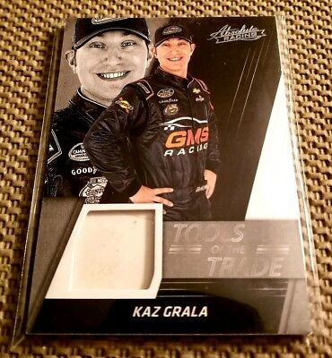Kaz Grala 2017 Panini Absolute NASCAR Racing SP Race-Used Sheet Metal card