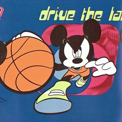 Disney Mickey Mouse Sport Wallpaper Border Lot - 45 feet FREE SHIPPING - can$ 15