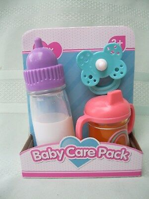Baby Care Pack - Disappearing Milk Bottle With Sound, Sippy Cup & Dummy