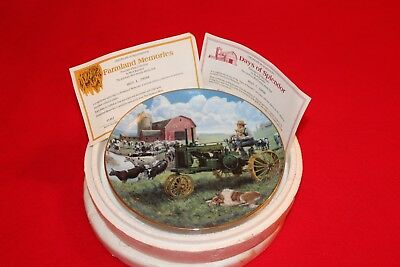 Days Of Splendor -The Danbury Mint -Farmland Memories-John Deere Coll. Plate