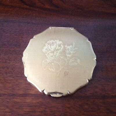 Vintage Stratton Gold Rose Compact England