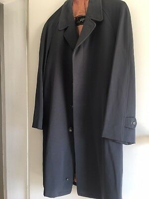 Mens Vintage Overcoat Pure Wool - Brand John Halifax Tailored Clothes