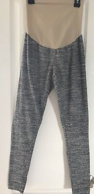 Motherhood Maternity Gray Heathered Leggings Pants Sz Small Comfy