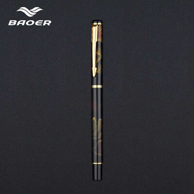 Colorful BAOER 801Metal Fountain Pen Smooth Fine 0.5mm Nibs Writing Gifts Chic