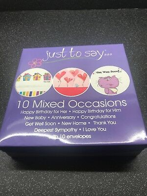 Wholesale Job Lot 4 x Tallon 10 Pack Just To Say Mixed Occasions Cards
