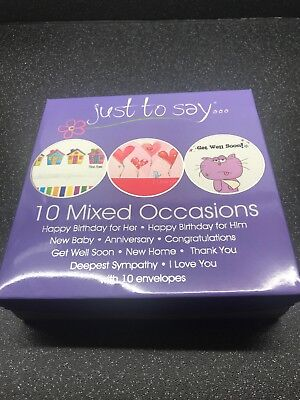 Wholesale Job Lot 12 x Tallon 10 Pack Just To Say Mixed Occasions Cards
