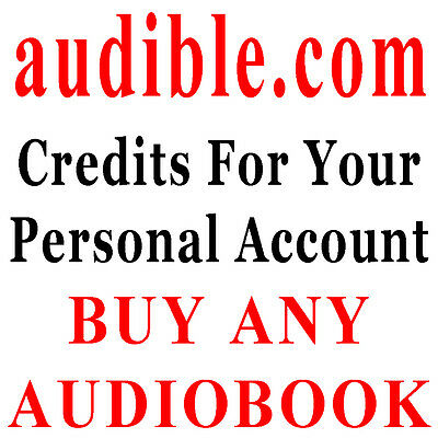 Audible.com 5 Credits - For Your Own Account - FAST DELIVERY