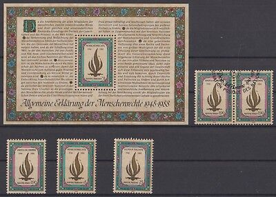 Nations Unies-United Nations Bloc + timbres neufs MNH + timbres oblit. 1er jour