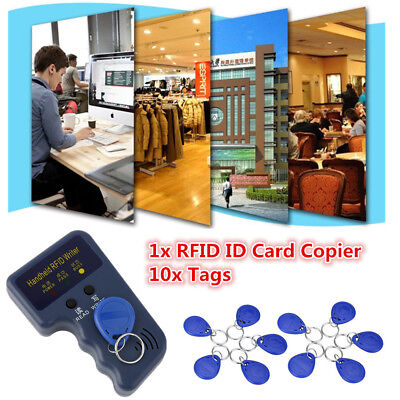 125KHz Handheld RFID Duplicator Key Copier Reader Writer Tags Cloner Programmer