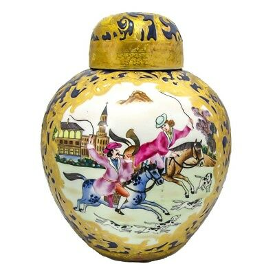 Antique Chinese Enameled Porcelain Ginger Jar Famille Style Hand Painted