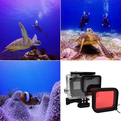 For GoPro HERO 7 6 5 Black Protective Cover Case Shell Mount Screen Red Filter