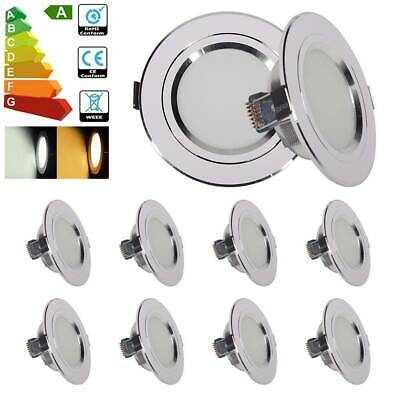 20/10/8/4/2x Bright 12W LED Recessed Downlight Fixture Cabinet Light Lamp Modern