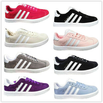 Womens Mens Outdoor Sneakers Sports Running Trainer Fashion Stripe Shoes Size