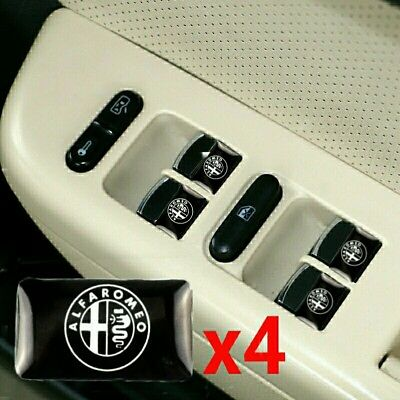 x4 Stickers Decals For Alfa Romeo Logo Alloy Wheel Emblem Styling 156 159 MiTO