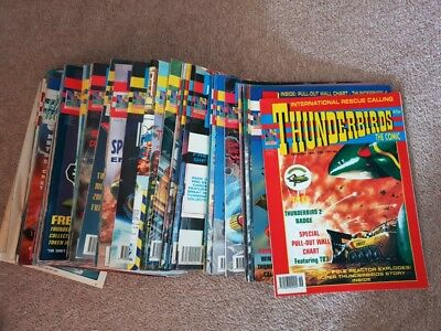 Huge 79 Thunderbirds The Comic Bundle Vintage Collectable 1991-1995