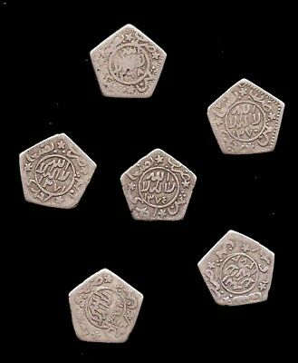 1955,54,53,52,51 & 1949   Yemen 1/8 Ahmadi Silver Riyal, Set of 6 coins. Rare