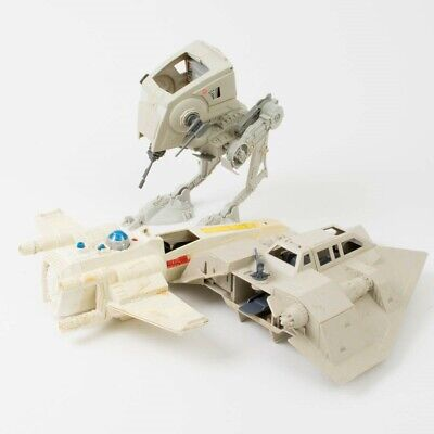 Vintage Parts Lot Star Wars Kenner Toys Rare 70' 80's AT-ST X-Wing Snowspeeder