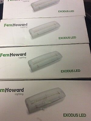 Fern Howard LED Non & Maintained Emergency 3 Hour bulkhead IP65. BRANDED 4w