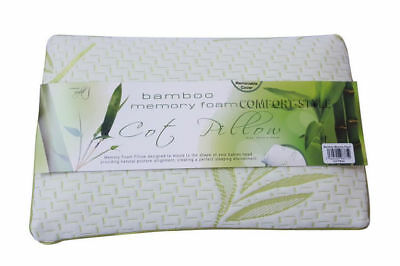1X Bamboo Memory Foam Cot Pillow Bed Baby Soft Toddler Bedding Sleeping Kids