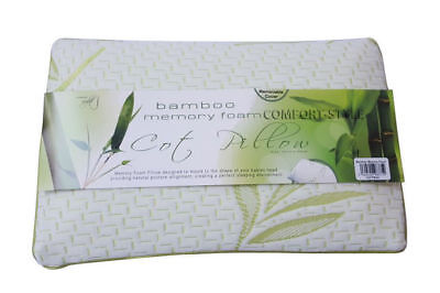 2X Bamboo Memory Foam Cot Pillow Bed Baby Soft Toddler Bedding Sleeping Kids