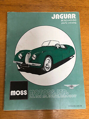 Moss Motors parts catalog JAG-06 for Jaguar XK 120, 140, 150 vehicles