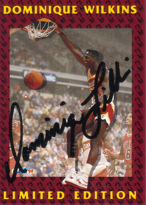 1991-92 Fleer Limited Edition Autograph # 9 of 12 Dominique WILKINS