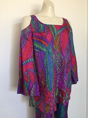 """Womens Vintage """"KENNETH PIRRIE"""" Acetate Rare Collectors 2 Piece Amazing Set S/M"""