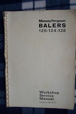 Massey Ferguson 124/128 Baler Workshop Service Manual.  1978.