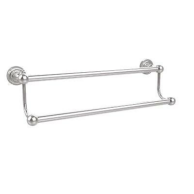 "Double Towel Bar Polished Chrome Allied Brass 30"" Brand New Quality Product"
