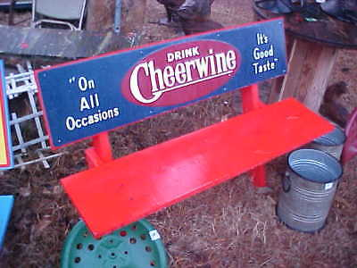 Cheerwine Soda Bench