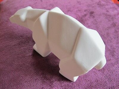 Ours Polaire En Biscuit Style Art Deco