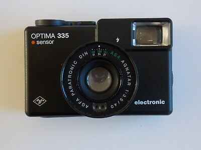 AGFA OPTIMA 335 SENSOR 35mm ELECTRONIC CAMERA WITH POUCH CASE 1980's FILM CAMERA