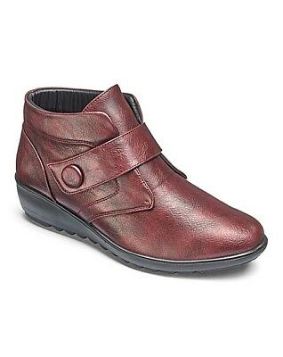 BNIB New in Box Comfy CUSHION WALK EEE Wide Fit Burgundy Red ANKLE BOOTS Size 7