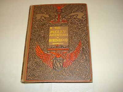 1908 THE MERRY ADVENTURES OF ROBIN HOOD Art Illustrated by Howard Pyle Antique