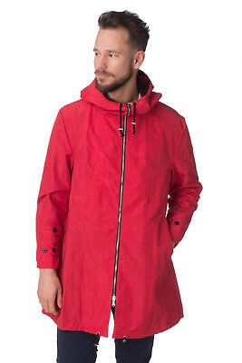 PRAW Jacket Size M Red Fully Mesh Lined Underarm Grommets Full Zip Hooded