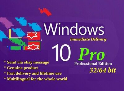 Win 10 Pro 32/64 bit + Link Dowload + Key Permanent Use, [ Fast Delivery ]