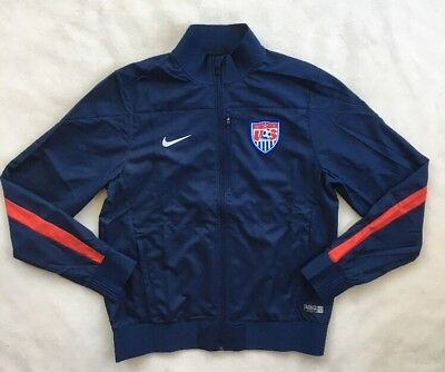 5f3fa003dc NIKE Mens US Soccer Full Zip Jacket US National Team Navy Blue 579379 NWT  MEDIUM