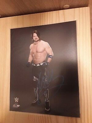 WWE The Phenomenal AJ Styles Handsigniertes Signed Autogramm + Zertifikat