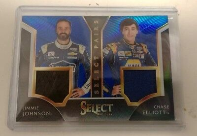 2017 Select Blue Chase Elliott And Jimmy Johnson Pairs Nascar 02/30