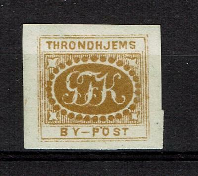 Norway Revenue Stamp Timbre Fiscaux Municipality Trondhjem By Post Local privat