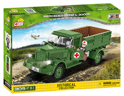 BRICKS COBI 2455A SMALL ARMY Mercedes-Benz L 3000 S 305 ELEMENT 1 FIGURE NEW