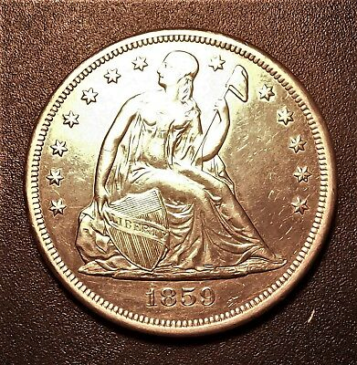1859-O AU Obverse/ Uncirculated Reverse Seated Liberty Dollar. Awesome Coin !!!