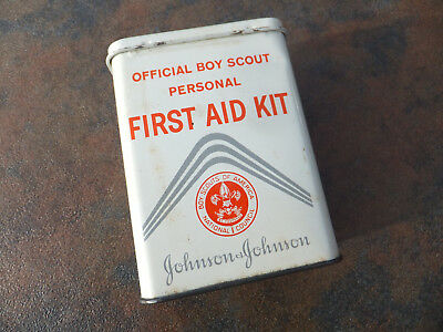 Vintage BSA Boy Scouts of America Official Personal First Aid Kit - W/ Halozone