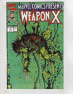 Marvel Comics Presents (1988) #73 VF/NM 9.0 Weapon X Wolverine; $4 FlatRate Ship