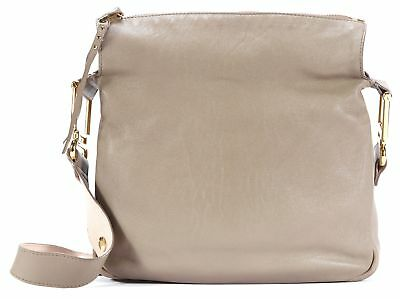 CHLOE Gray Nude Pink Leather Gold-Tone Hardware Vanessa Shoulder Bag