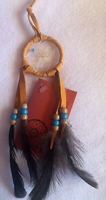 Dream Catcher Turquoise Feathers Beaded