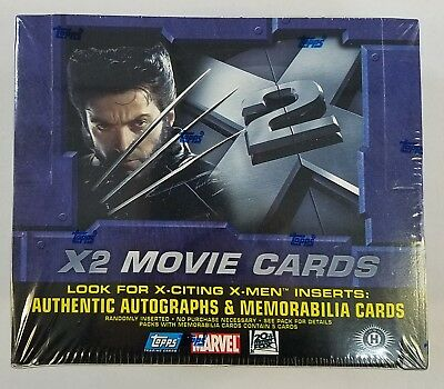2003 Topps X-Men X2 Movie Factory Sealed Trading Card Hobby Box